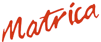 Matrica's logo in traditional red.